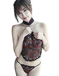 (VIVID STYLE) 性感 情趣内衣 刺绣蕾丝旗袍 短裤套装 性感型 125