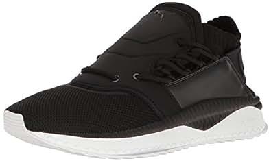 PUMA Men's Tsugi Shinsei Sneaker, Black White, 8.5 M US