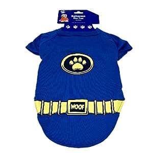 Spooky Things 万圣节宠物 T 恤中号蓝色*英雄 35.56 厘米 x 40.64 厘米