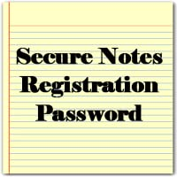 Reg. Password for Secure Notepad