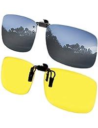 夹子太阳镜偏光翻转夹至*眼镜 2 件套男女通用