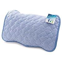 Nisday 凉爽 枕垫 接触冷感 Q-max0.542 可洗 凉爽 枕头 (枕头) 垫 套 * 防臭 双面可用 43×63cm 钴蓝 603100Y7