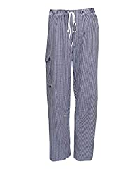 Highliving Chef 外套/厨师外套/厨师工作裤/厨师帽餐制服短袖口袋 白色 XXL Chef Jacket NULL