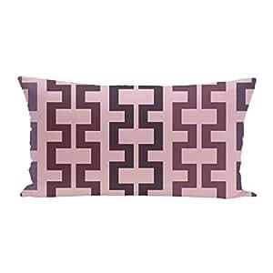 E By Design Cuff-Links 几何印花户外座椅垫,桑莓色