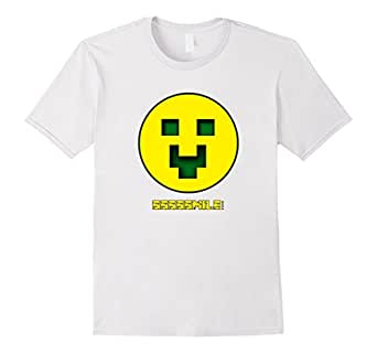 Minecraft Shirt - Happy Creeper Shirt - Male Small - White