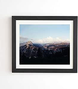 Deny Designs Leah Flores Yosemite 镶框墙壁艺术,20.32 cm x 24.13 cm,蓝色