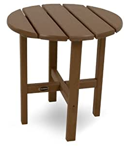"18"" Round Outdoor POLYWOOD Side Table Teak 无尺寸"