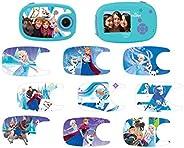 LEXIBOOK piece DJ070FZ 迪士尼冰雪奇缘艾莎 5 万像素数码相机,LCD 2 英寸屏幕,可定制10张贴纸,电池供电,蓝色/紫色
