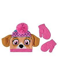 Nickelodeon 尼克国际儿童狗狗巡逻队帽和手套寒冷天气套装