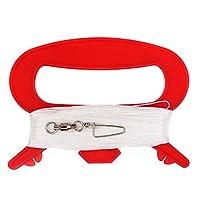 emma 风筝 3 件装红色风筝手柄 3# 带 100 英尺(约 48.8 米)25 磅(约 11.3 千克)耐用涤纶绳和连接器 适用于户外活动