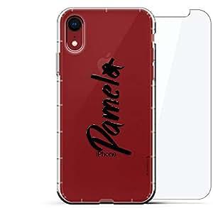 豪华设计师,3D 印花,时尚,气袋垫,360 玻璃保护膜套装手机壳 iPhone XR - 透明阿尔巴尼亚国旗LUX-I9AIR360-NMPAMELA1 NAME: PAMELA, HAND-WRITTEN STYLE 透明