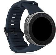kwmobile 硅胶手表表带 适用于 Polar Vantage V - 健身追踪器替换表带 - 运动腕带手镯 带扣48107.73_m000882 煤灰色