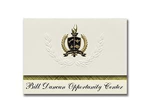 """标志性公告 毕业公告,总统风格,25 件精英包装,金色和黑色金属箔封条 Bill Duncan Opportunity Center (Lakeland, FL) 6.25"""" x 11.44"""" 奶油色"""