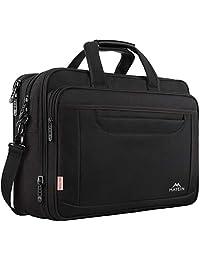 Ytonet 笔记本电脑公文包,15.6 英寸笔记本电脑包,男式商务办公包,时尚尼龙多功能单肩斜挎包,适用于 MacBook 宏碁 HP 戴尔联想