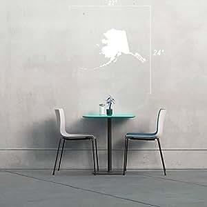 StickAny 墙壁系列阿拉斯加 AK 贴纸,适用于窗户、房间等! (默认) 白色 1549-33471