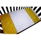 iLuvBamboo 婴儿床防水竹床单保护垫 - 柔软保护垫带长束带适用于婴儿床垫。 让您的新生儿*安心 - 比其他婴儿床垫更大 白色