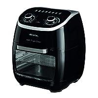 Ariete 4619 空气和烤箱炸锅一体,11升,多功能定时器,60分钟,可拆卸透明门,温度80-200 OC,2000 W,黑色