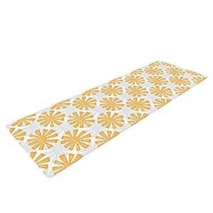 Kess InHouse Apple Kaur Designs Sunburst 瑜伽运动垫,橙色/灰色,182.88 x 60.96 厘米