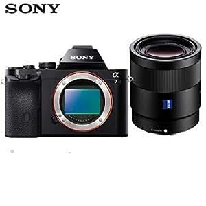 SONY 索尼 ILCE-7 微单™全画幅数码相机 多面能手 黑色(约2430万有效像素 a7/α7/A7) 附送 柯莱斯 相机包+Aisying多层镀膜UV镜 (A7(55F1.8 定焦)套餐)