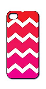 Dimension 9 3D 透光 iPhone 5/5s 手机套D9LNT15S-CPC116 Pink and White Chevron Motion