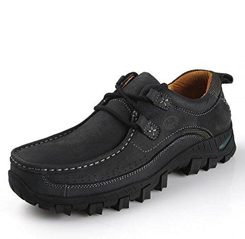 德克森 秋冬潮流户外休闲男鞋 登山鞋套脚大号男鞋大码鞋45码 男皮鞋子男鞋子男休闲鞋男单鞋男士鞋