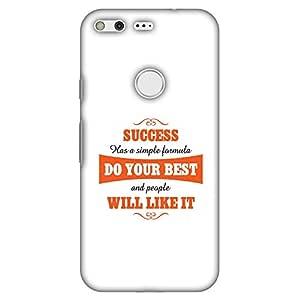 AMZER 修身款手工设计师印花硬壳手机壳后盖适用于 Google PixelAMZ601040060027 Success Do Your Best