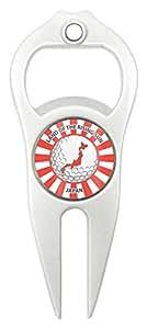 Hat Trick Openers 帽子 Trick 6 合 1 高尔夫草皮工具日本徽标 白色 HTDT9016JAP