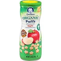 Gerber Organic Puffs, Apple, 1.48 oz