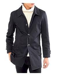 ( 黑桃 ) Spade 风衣立领外套男士大衣中长款 ( E297)