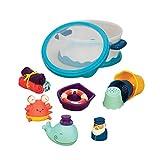 B.toys 宝宝洗澡玩具套装 戏水玩具 儿童洗澡喷水玩具 感官训练 早教 0岁+