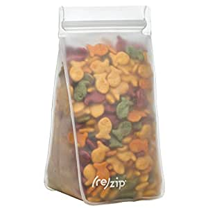 rezip 高透明防漏可重复使用的储物袋 透明 4-Cup/32-ounce BA336-4C