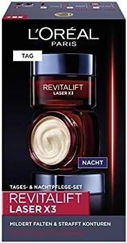 L'Oréal Paris 巴黎欧莱雅 透明质酸 日夜面部护理礼品套装 Revitalift Laser x3