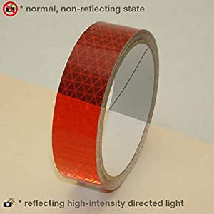 Reflexite V92-DB-COLORS Microprismatic Retroreflective Conspicuity Tape 红色 1 in. x 5 yds. **5-yard (25mm wide)