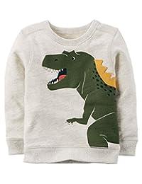 Carter's 象牙恐龙运动衫,象牙色 3 个月