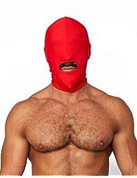 Mister B 莱卡帽子嘴口仅打开红色