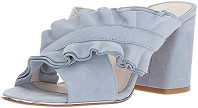 Kenneth Cole NEW YORK 女式 LAKEN 荷叶边吊带 Slide 高跟凉鞋 风暴 6 B(M) US