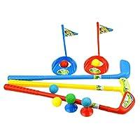 BESPORTBLE 儿童高尔夫球杆套装幼儿塑料高尔夫球游戏套装户外运动玩具礼品运动和户外游戏男孩女孩(随机颜色)