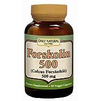 Only Natural - Forskolin 500 镁。50 素食胶囊