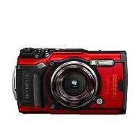 Olympus 奥林巴斯 Tough TG-6 数码相机(12 MP,25 – 100 毫米1:2 个镜头,GPS,仪表,温度传感器,罗盘)Olympus TG-6 Red 红色
