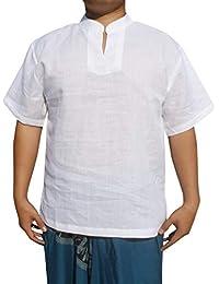 RaanPahMuang 薄薄薄薄薄薄亚麻中国领短袖衬衫