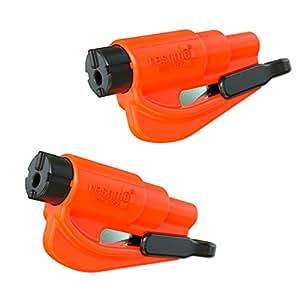 resqme 锐救 原装汽车紧急逃生钥匙扣破窗器 美国制造 橙色 2只装(亚马逊进口直采,美国品牌)