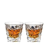 Crystalite Bohemia 波希米亚 冰层威士忌酒杯93K52/350 水晶玻璃透明威士忌酒杯350ml  2只价(亚马逊自营商品, 由供应商配送)