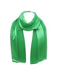 Rosemarie Collections 女士圣帕特里克节爱尔兰三叶草丝绸条纹轻质时尚围巾 * 均码