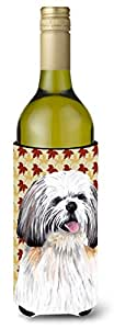 Shih Tzu Fall Leaves Portrait Michelob Ultra Koozies for slim cans SC9223MUK 多色 750 ml