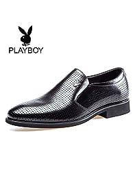PLAYBOY 花花公子 男鞋夏季男士商务正装皮鞋男韩版真皮英伦婚鞋工作鞋子男
