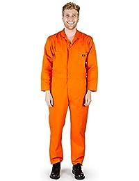 天然工装裤 - 男士长袖基本混纺工作服包括加大加长尺码 - 订购大一码