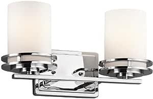 Kichler Lighting 3 灯 Hendrik 白炽灯 镀铬色 2-Light 5077CH 需配变压器