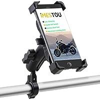 iMESTOU 自行车/自行车手机支架自动夹紧摩托车车把手机支架带双球插座可自由旋转