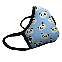 Vogmask N99CV时尚儿童防雾霾 pm2.5 防尘 防过敏源 户外运动旅行口罩 BluePanda 1只 S号(参考体重:25-50磅/11-22公斤)(进口)