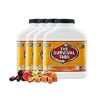 The Survival Tabs 紧急食物生存食品代餐MRE 用于户外活动的食物替代品 应对灾害 不含麸质 25年保质期-混合口味,60天720粒